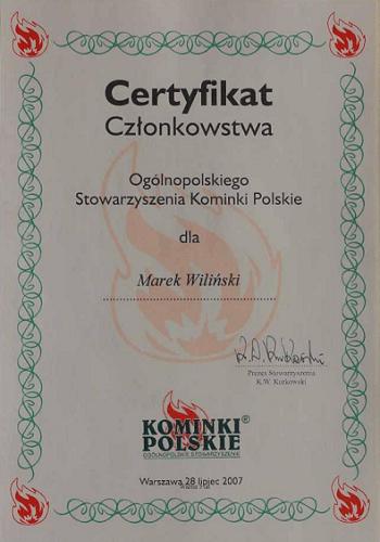 wilinski-certyfikat-czlonkowstwa