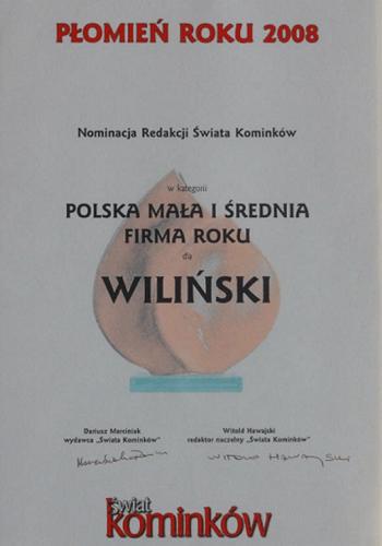 wilinski-certyfikat-plomien-roku-2008