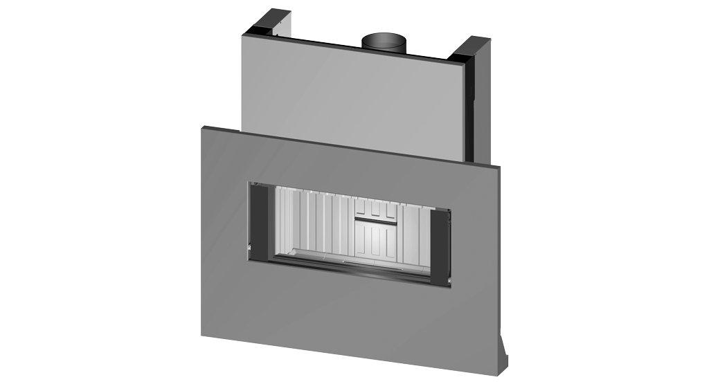 Wkład kominkowy Premium V-ASh z betonową ramą